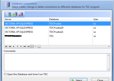 tdc database connections
