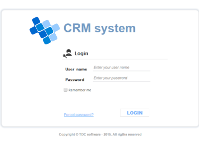crm project Login