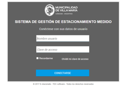 e-stacionate login usuario