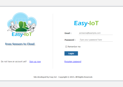 EAsy IOT Login page